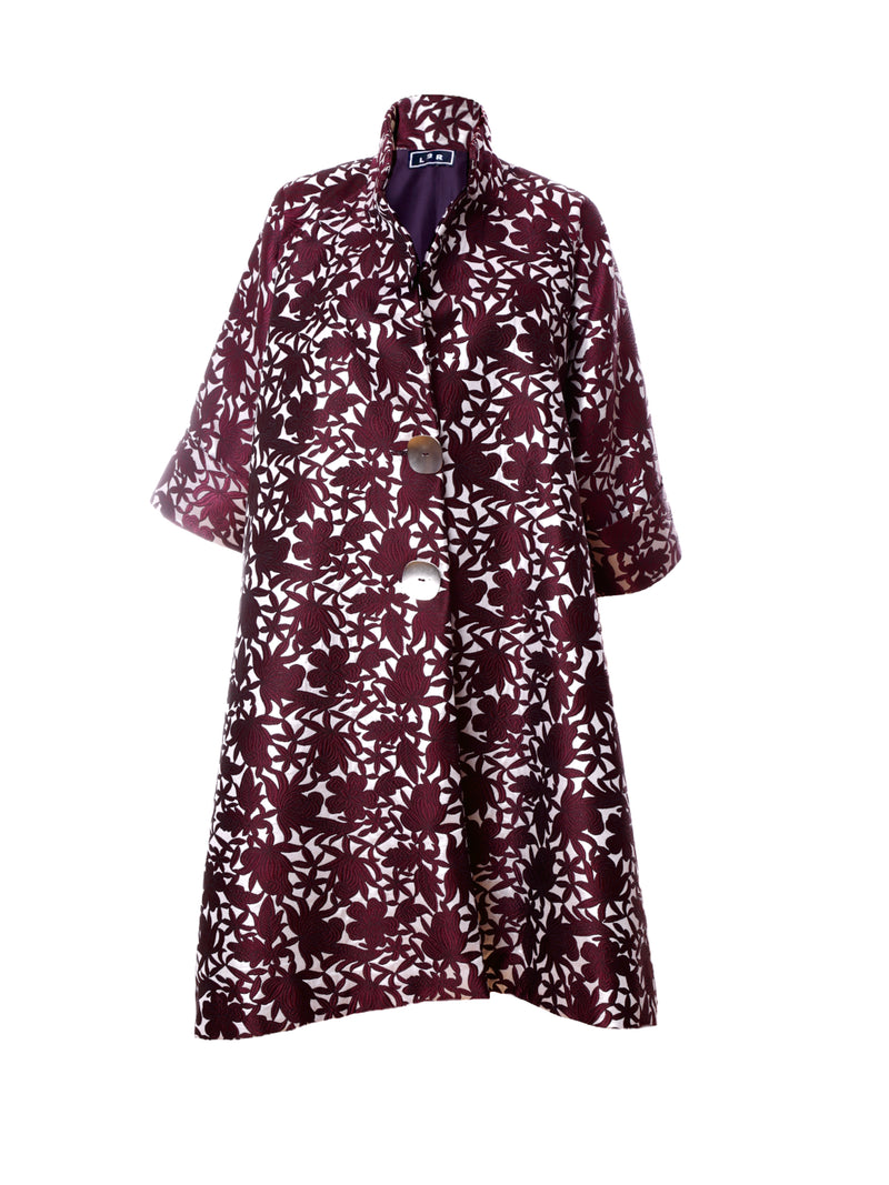 C4 | Boxxy coat: burgundy and silver