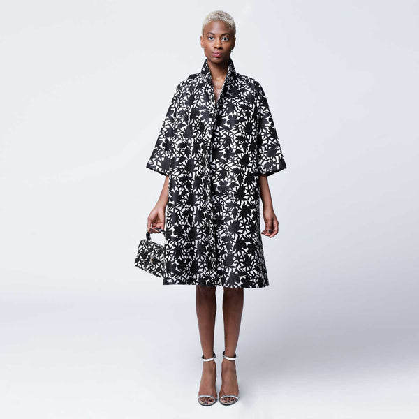 C4 | Oversized Opera Coat in Black and White