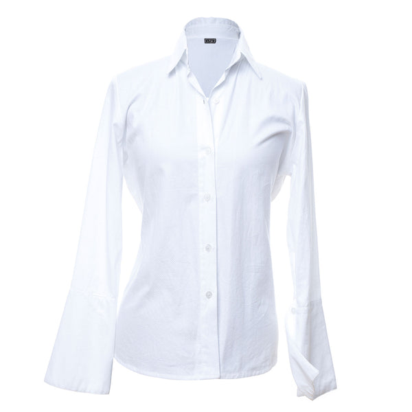 SH1 | Collared Shirt in White Cotton