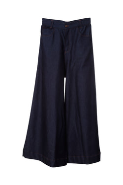 P6 | Palazzo pants: rescued navy blue denim