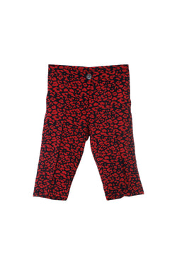 SHo1 | Bermuda shorts: red leopard