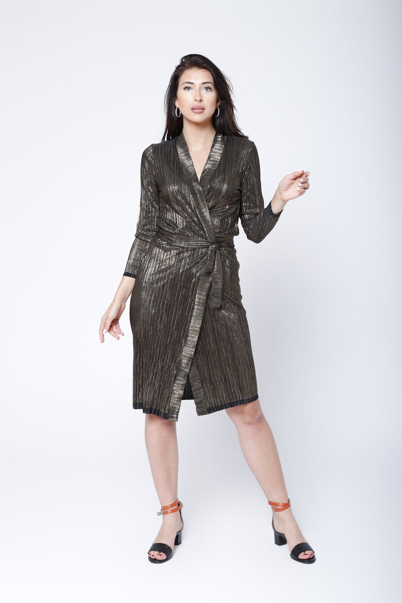 D5 | Wrap dress: black