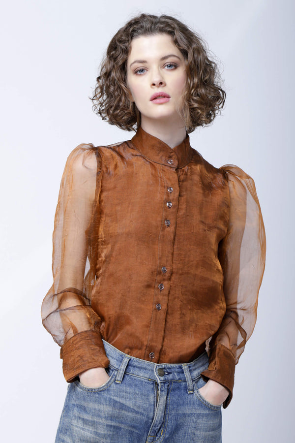 SH3 | Not-the-regular-princess blouse: rust