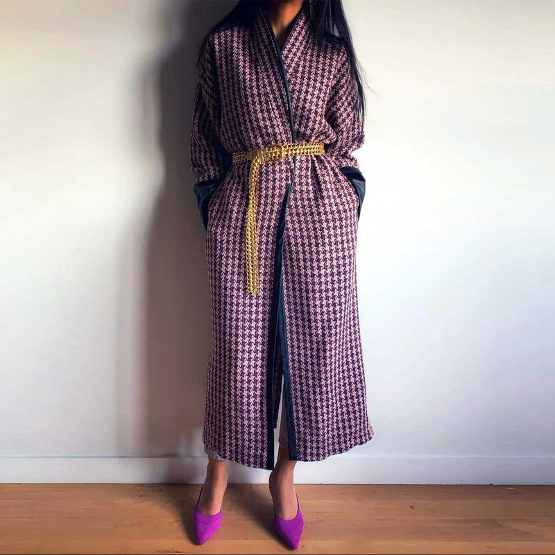 C2 | Slouchy coat in purple