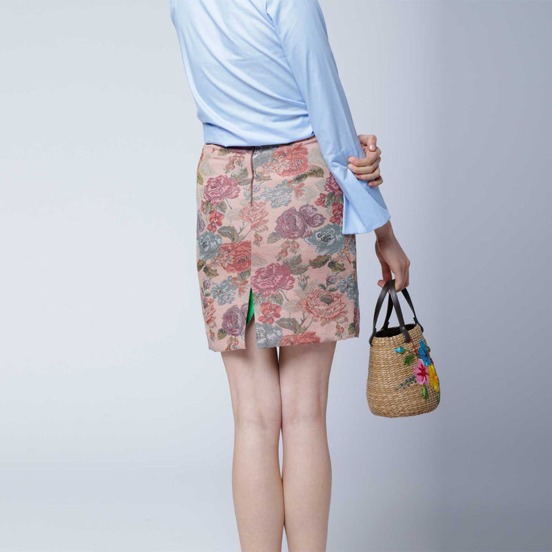 SC4 | Mini Panier Crossbody ScraBag in floral pink and blue