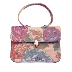 SC2 | Zero Waste Mini Satchel Shoulder Bag in Spanish Pink Brocade
