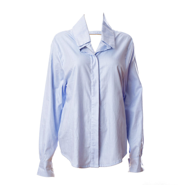 SH2 | Oversized Shirt in Blue Cotton