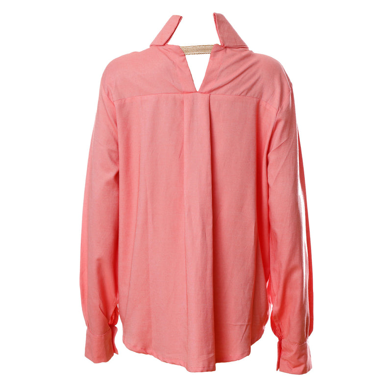 SH2 | Oversized Shirt in Coral Cotton