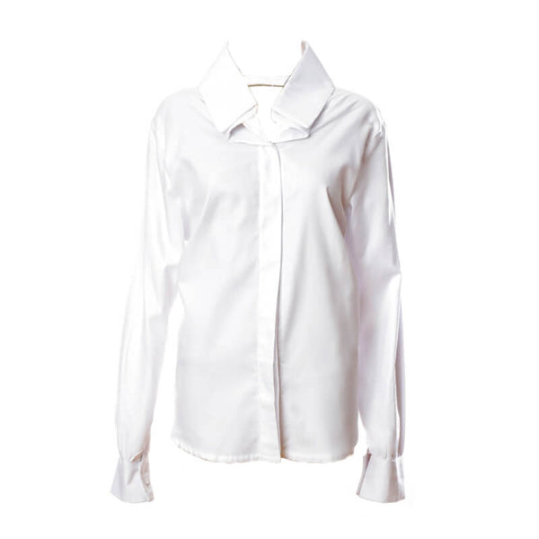 SH2 | Oversized Shirt in White Cotton