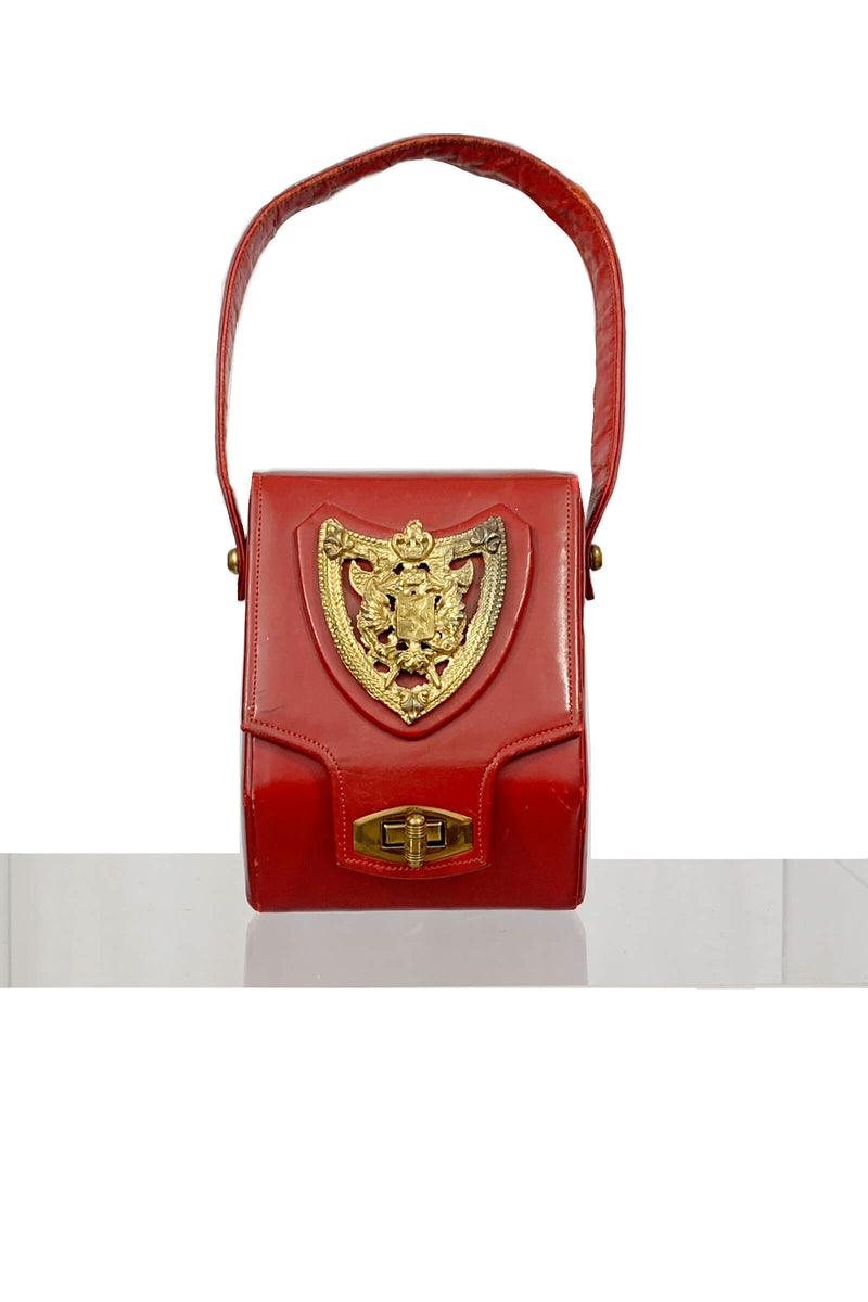 Nano box vintage bag: red