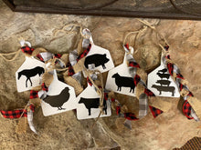 Load image into Gallery viewer, Farm Animal Tag Ornaments