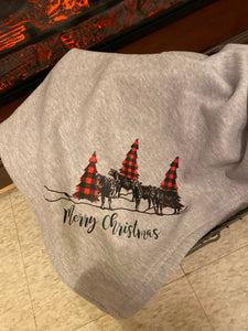 Christmas Calves Sweatshirt Blanket