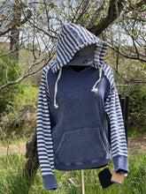 Load image into Gallery viewer, Blue Stripe Hoodie