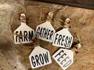 Farmhouse Word Tag Ornaments