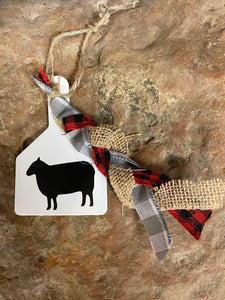Farm Animal Tag Ornaments
