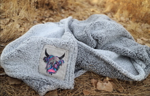 Load image into Gallery viewer, Sherpa Logo Throw Blanket