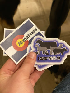 I Stand With Ag Sticker