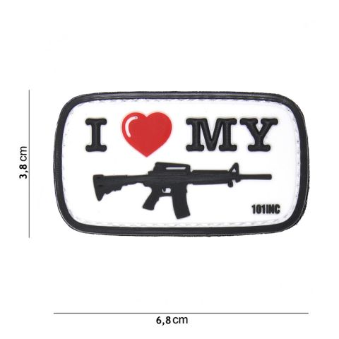 I Love My AR15 Rubber Patch