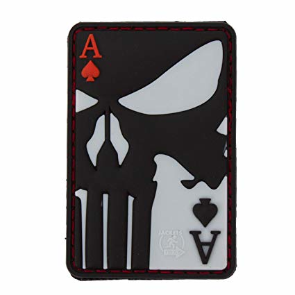 Punisher Ace of Spades Rubber Patch