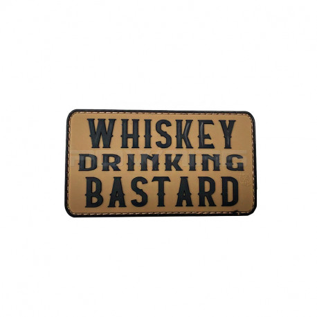 Wihskey Drinking Bastard 3D Rubber Patch