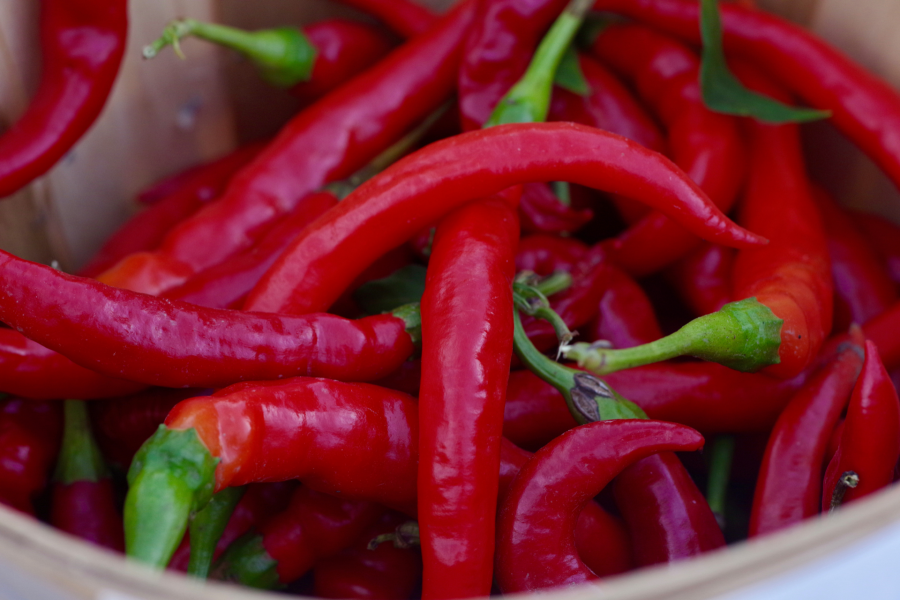 Capsaicin from chili peppers