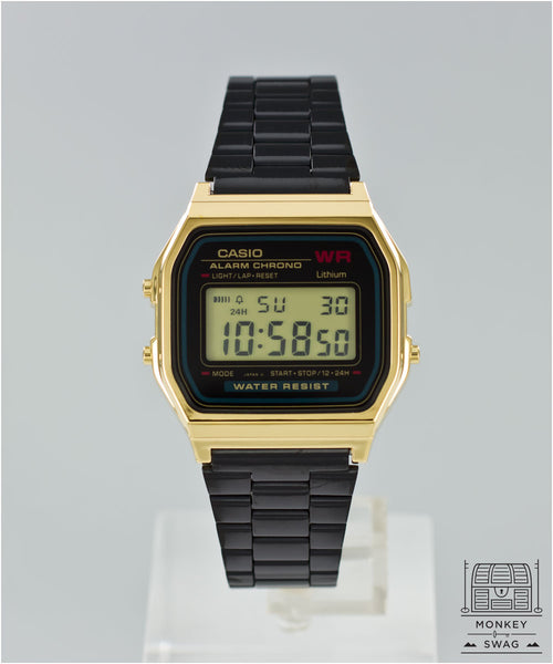 Casio Classic Digital Rare Onyx Black & Gold