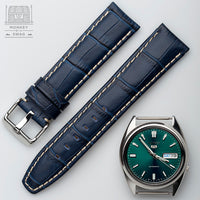 Aligator Grain Leather Strap