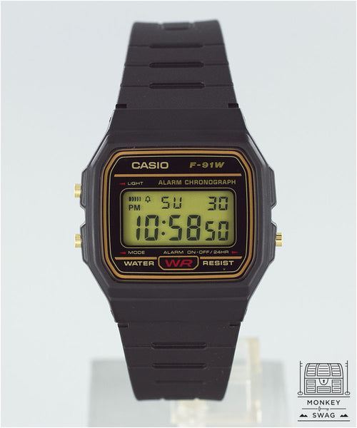Casio F-91 (Gold Trim)