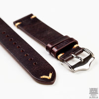 Vintage Leather Strap, Burgundy Red