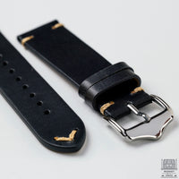 Vintage Leather Strap Black