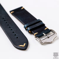 Vintage Leather Strap, Royal Blue