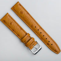 Ostrich Tan Leather Strap