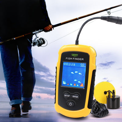 100M Portable Sonar Color LCD Fish Finder
