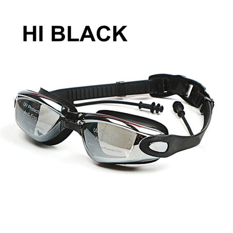 Hi Black Professional Silicone Anti-Fog Swimming Goggles with Diopters - Python Ridge™ Outfitters