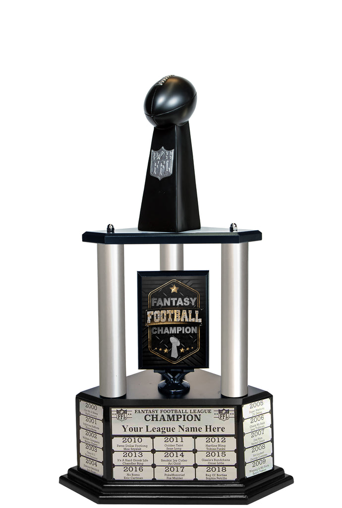 "26""-56"" Replica Fantasy Trophy- Black - Perpetual Base"