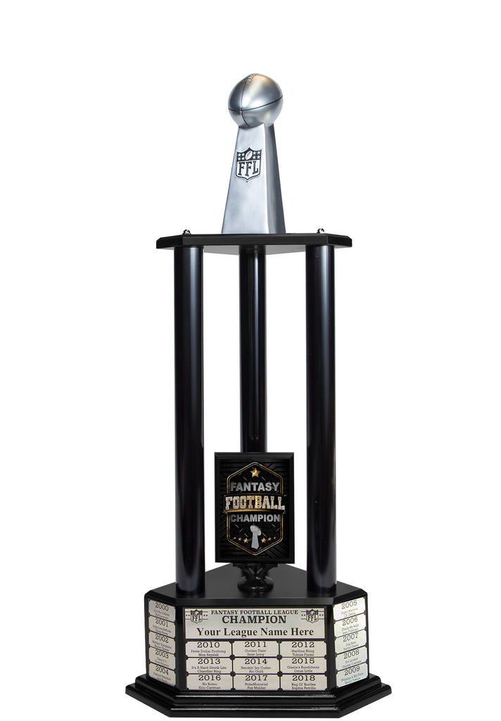 "26""-56"" Replica Fantasy Trophy- Silver - Perpetual Base"