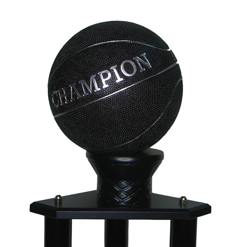 "26-36"" Black Basketball Trophy"