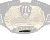 Championship Belt League Plate - Black/Gold
