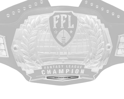 Championship Belt League Plate - Silver