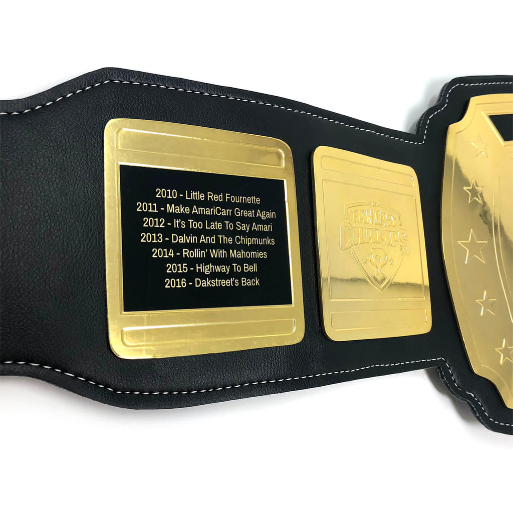 Legacy Fantasy Champs Belt Perpetual Engraving – Black/Gold