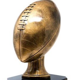 Antique Gold Football Topper