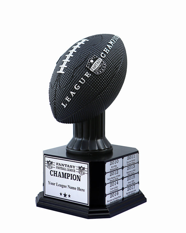 Prestige Decanters Fantasy Football Trophy Engravable Plate Only Fits Prestige Decanters Perpetual Fantasy Football Trophy