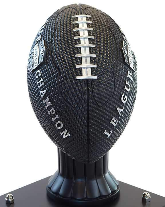 "26""-56"" Vivid Football Trophy- Black - Perpetual Base"