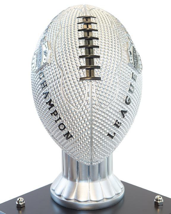 "26""-56"" Vivid Football Trophy- Silver - Perpetual Base"
