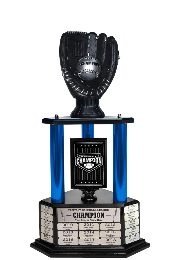 "26-36"" Black Baseball Trophy"