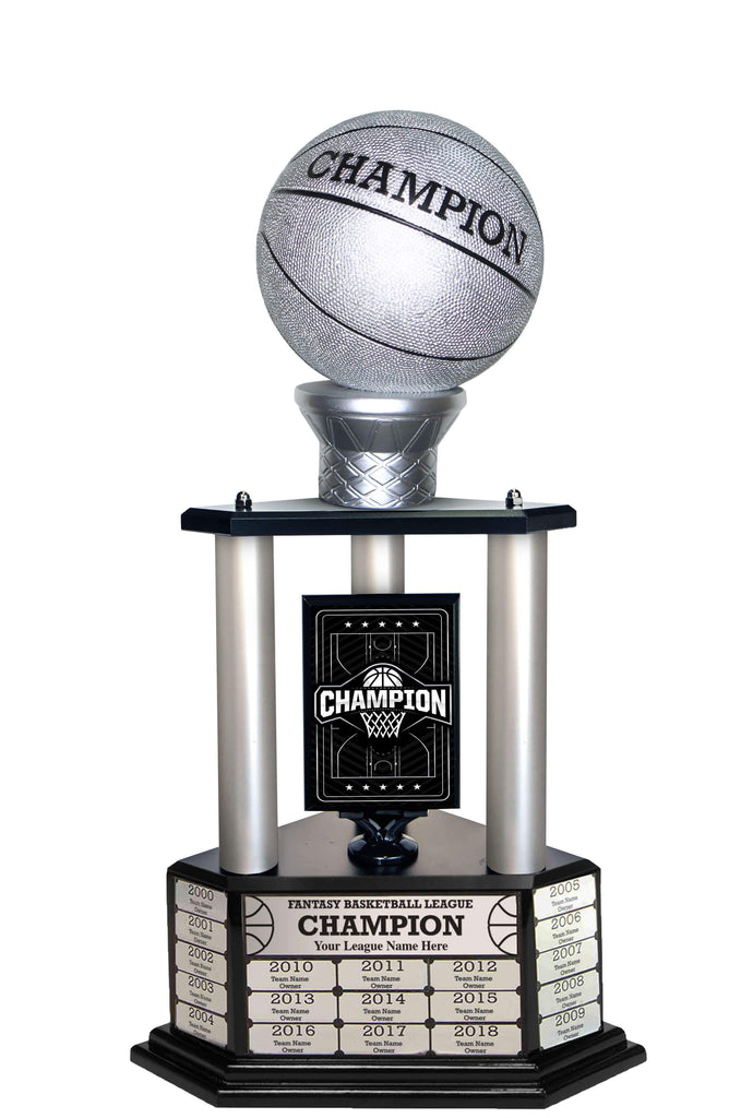 "26-36"" Silver Basketball Trophy"