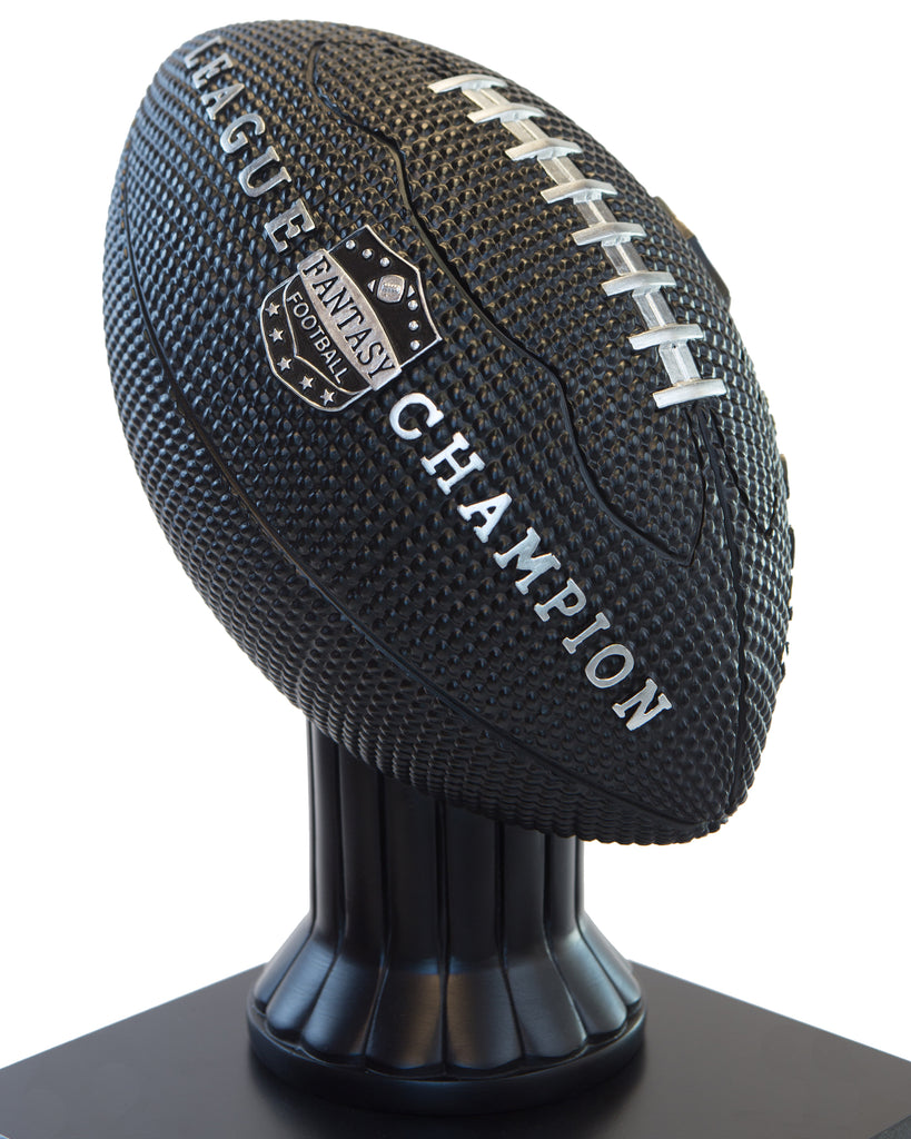 "15"" Vivid Football Trophy– Black"