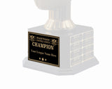 Square Base League Plate - Champion - Black/Gold
