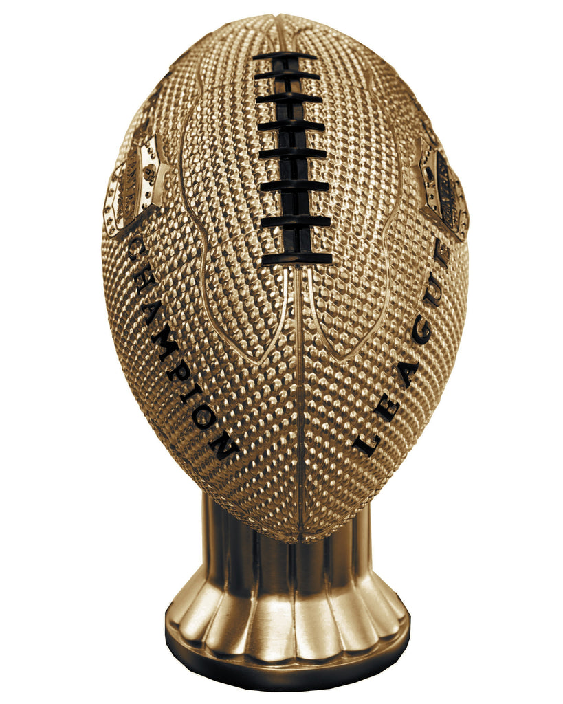 "26""-56"" Vivid Football Trophy- Gold - Perpetual Base"