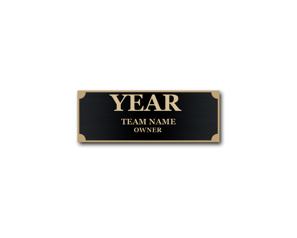 Engraved Name Plate - Black/Gold